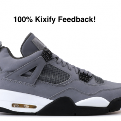 Air jordan 4 cool grey ls