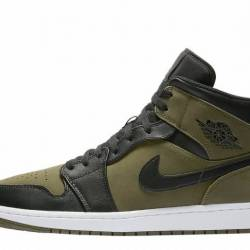 "Air jordan 1 mid ""olive canvas..."