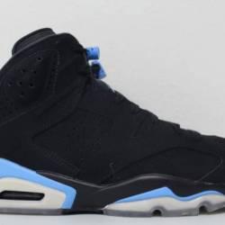 Nike air jordan 6 vi unc black...