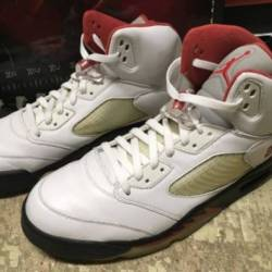 Used mens nike air jordan 5 re...