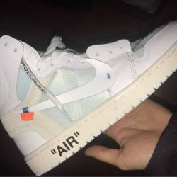 Off-white x air jordan 1 white