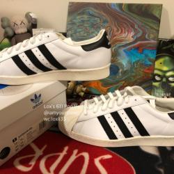 Adidas superstar white black s...