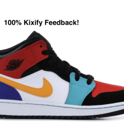 Air jordan 1 mid multicolor gs