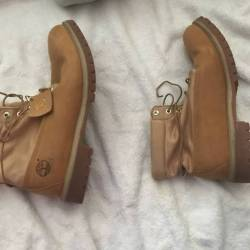 Timberland roll up wheat boots