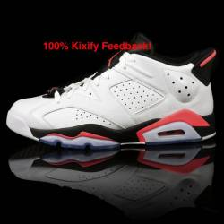 Air jordan 6 low - white / inf...