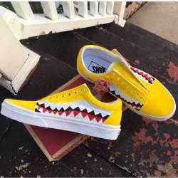 Custom bape teeth vans