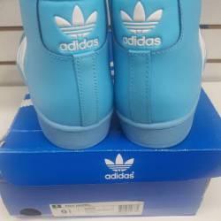 Adidas pro- model sky blue/whi...