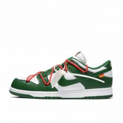 Nike dunk low x off-white pine...
