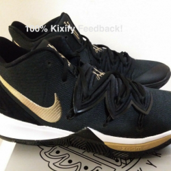 Nike kyrie 5 black metallic gold