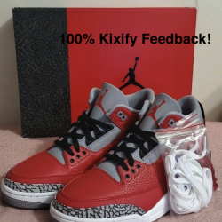 Air jordan 3 se red cement chi...