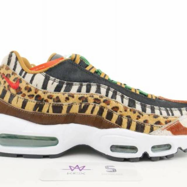9fa3484533 NIKE AIR MAX 95 DLX ANIMAL PACK SZ 10.5 Multi AQ0929-200 NEW ...