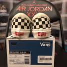 Vans Vault OG Classic Slip Ons White/Black Checkerboard Pattern. Mens