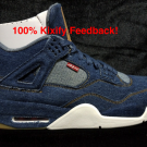 Levis x Air Jordan 4 Denim