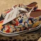 Vans x Disney Authentic Multi Princess Print Cinderella Toddler Baby Shoes 5.5