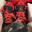"Air Jordan 3 ""Crimson"" Pre-Owned, VERY LIGHTLY USED"