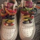 Nike Air Force 1 GS – White – Rainbow Outsole